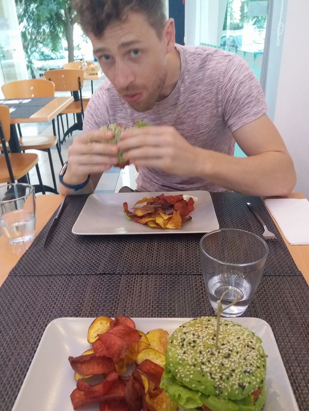 """Photo of Veggie Cafe  by <a href=""""/members/profile/Libbytes"""">Libbytes</a> <br/>Quinoa and Beetroot Burger <br/> September 12, 2017  - <a href='/contact/abuse/image/95965/303598'>Report</a>"""