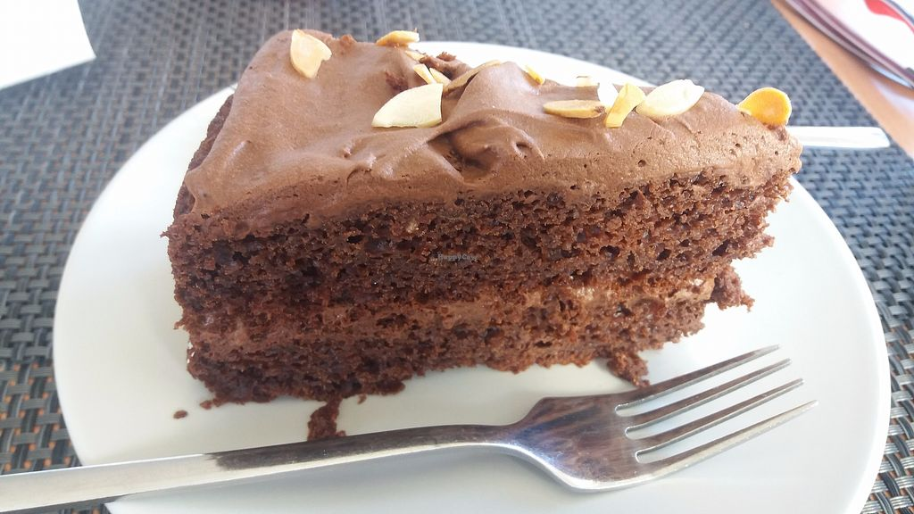 """Photo of Veggie Cafe  by <a href=""""/members/profile/Melissa_Goncalves"""">Melissa_Goncalves</a> <br/>Best Vegan Chocolate Cake ever...  <br/> December 13, 2017  - <a href='/contact/abuse/image/95965/335266'>Report</a>"""
