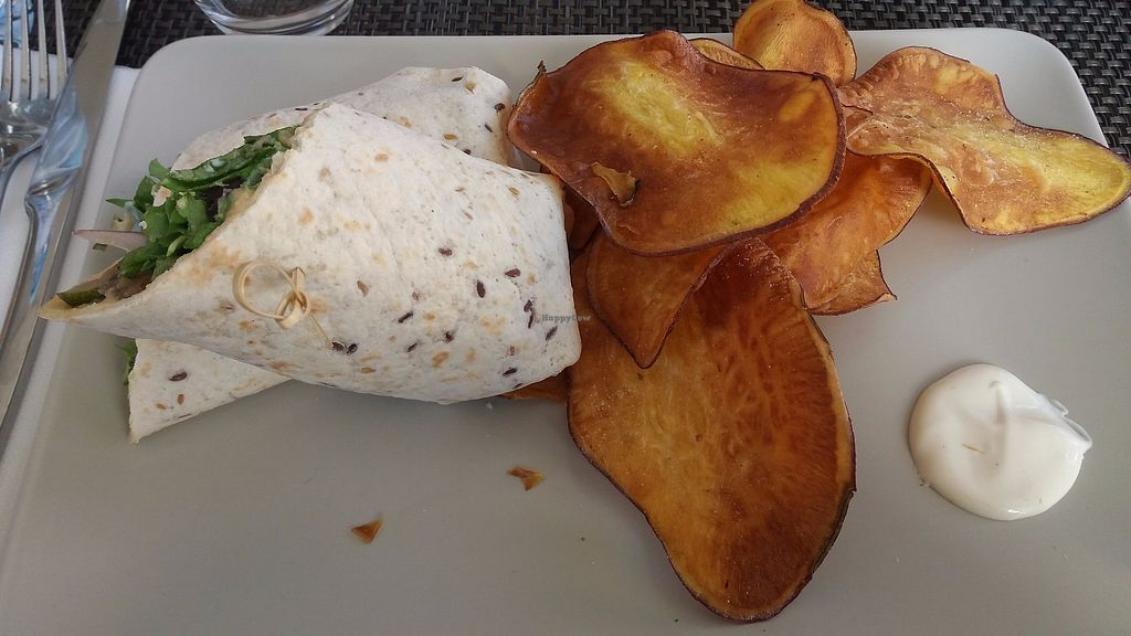 """Photo of Veggie Cafe  by <a href=""""/members/profile/Melissa_Goncalves"""">Melissa_Goncalves</a> <br/>grilled vegetables wrap w/ hummus... just TOP <br/> December 13, 2017  - <a href='/contact/abuse/image/95965/335267'>Report</a>"""