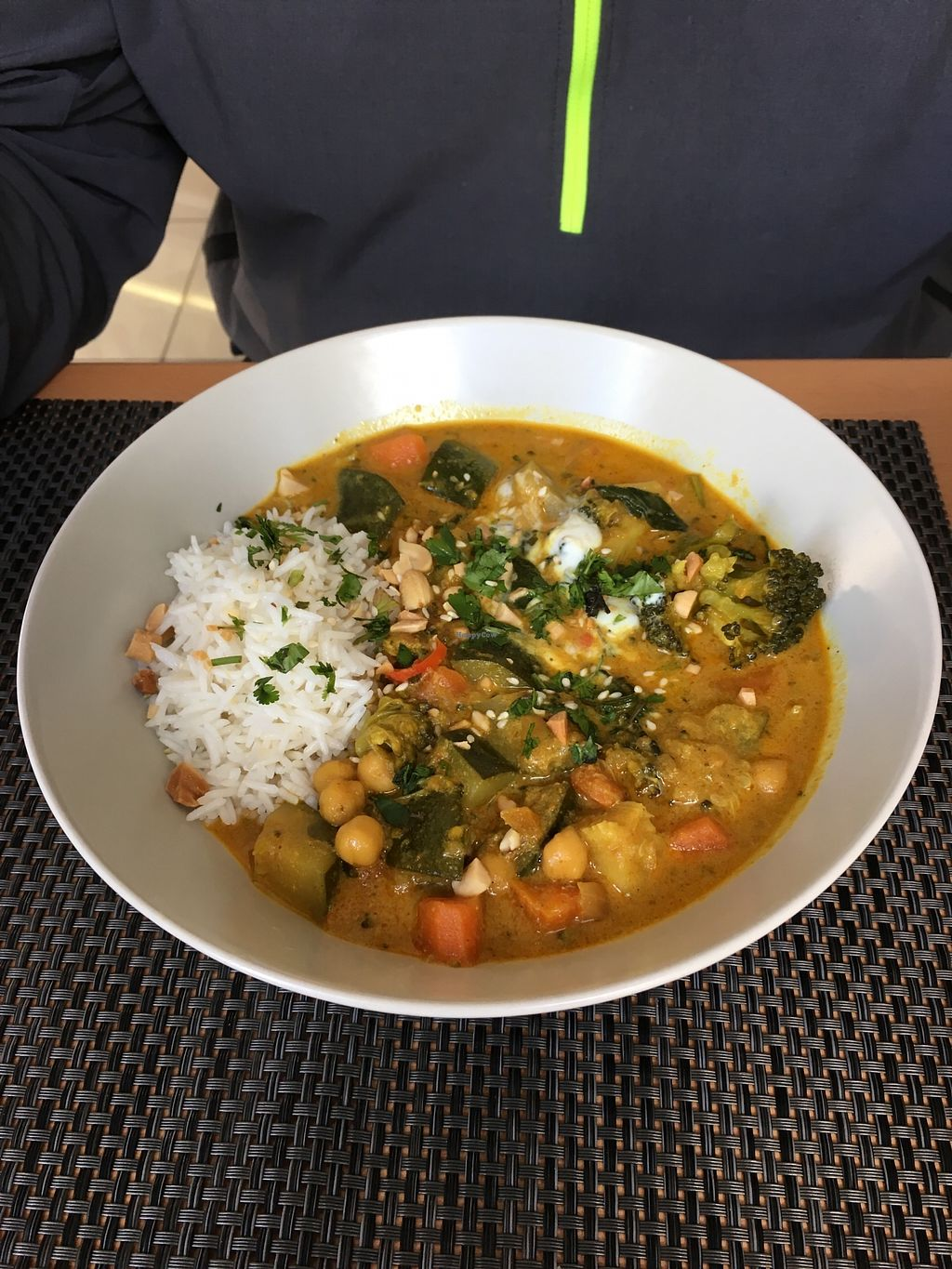 """Photo of Veggie Cafe  by <a href=""""/members/profile/carolgardenhill"""">carolgardenhill</a> <br/>Chick pea curry  <br/> April 13, 2018  - <a href='/contact/abuse/image/95965/385069'>Report</a>"""