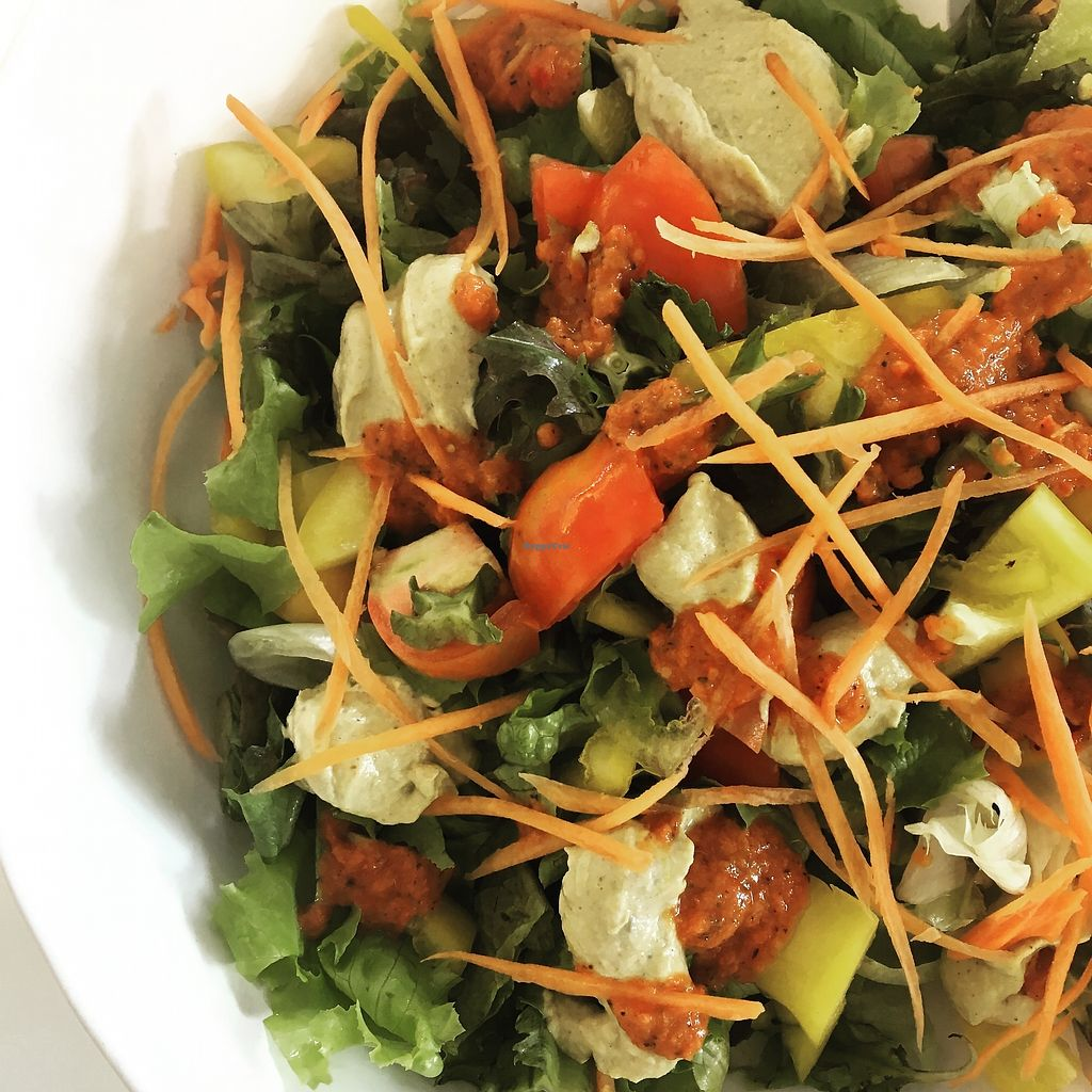 """Photo of Nourished by Gade  by <a href=""""/members/profile/nourishedbygade"""">nourishedbygade</a> <br/>Rawvegan salad with both low-fat dressing and creamy seed cream <br/> July 12, 2017  - <a href='/contact/abuse/image/95990/279525'>Report</a>"""