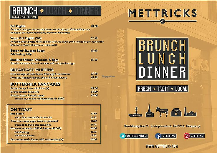 "Photo of Mettricks Tea and Coffee  by <a href=""/members/profile/EatsLeaves"">EatsLeaves</a> <br/>Guildhall & Woolston Menu (1) <br/> October 20, 2017  - <a href='/contact/abuse/image/96022/316902'>Report</a>"