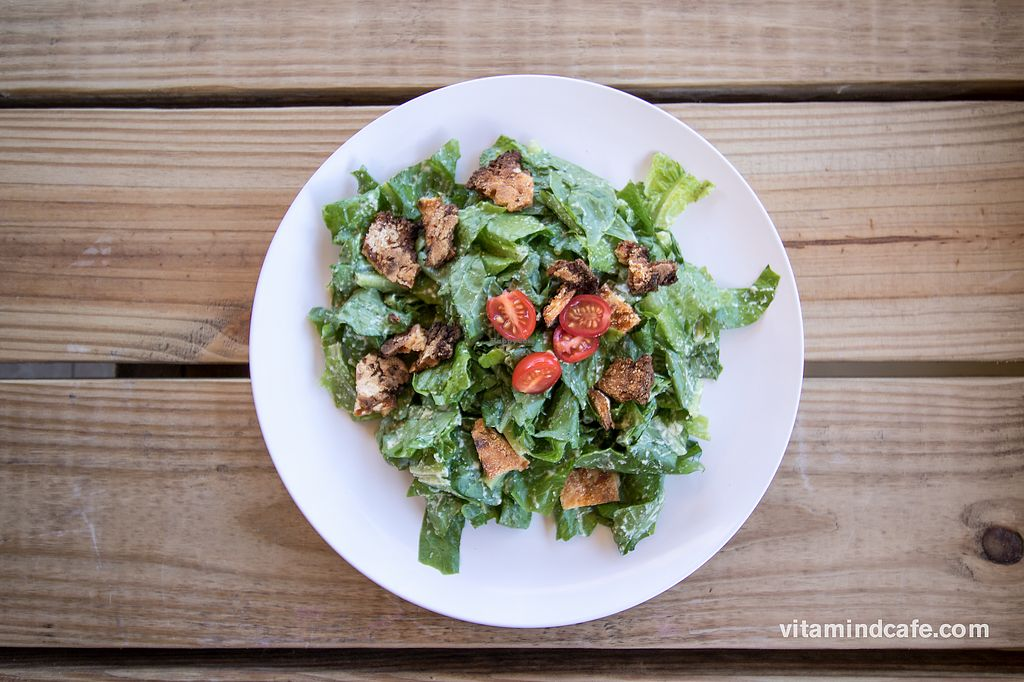 "Photo of Vitamin D Cafe  by <a href=""/members/profile/SocialZealot"">SocialZealot</a> <br/>Vegan Caesar with Casava croutons <br/> July 13, 2017  - <a href='/contact/abuse/image/96070/280017'>Report</a>"
