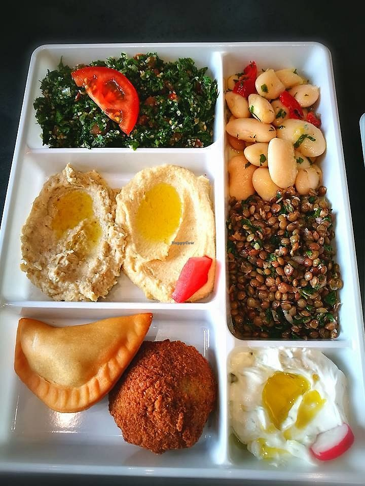 "Photo of Traiteur Le Cedre  by <a href=""/members/profile/Alexvegannnnn"">Alexvegannnnn</a> <br/>An example of what a vegetarian (mostly vegan except the cheese) plate looks like. 