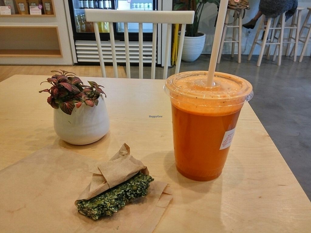 """Photo of The Juice Truck Cafe - Yaletown  by <a href=""""/members/profile/MarsiaMS"""">MarsiaMS</a> <br/>The Tumeric <br/> November 27, 2017  - <a href='/contact/abuse/image/96081/329572'>Report</a>"""