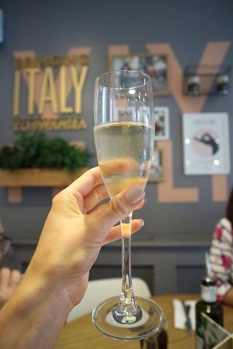 "Photo of Ask Italian  by <a href=""/members/profile/charclothier"">charclothier</a> <br/>Free Prosecco from the kind lady at ask Italian for congratulating me on my graduation day, thank you <br/> July 13, 2017  - <a href='/contact/abuse/image/96087/279999'>Report</a>"