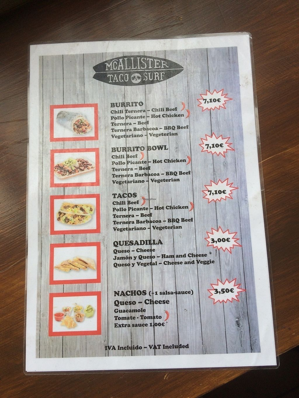 "Photo of McAllister Taco Surf Bar  by <a href=""/members/profile/DominicTinner"">DominicTinner</a> <br/>Menu <br/> July 18, 2017  - <a href='/contact/abuse/image/96139/281805'>Report</a>"