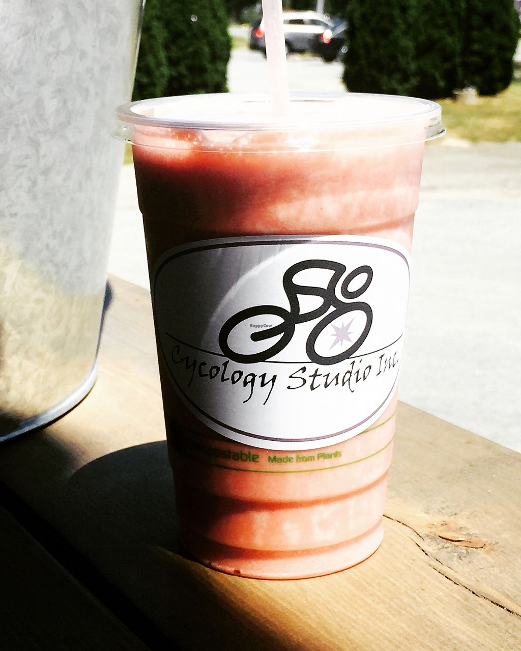 """Photo of Cycology Cafe  by <a href=""""/members/profile/Cycology"""">Cycology</a> <br/>Plant-based shakes and smoothies <br/> July 13, 2017  - <a href='/contact/abuse/image/96155/280008'>Report</a>"""