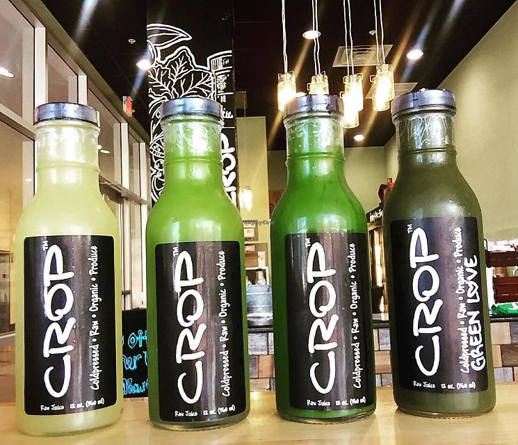 "Photo of Crop Juice - Tourist Center Dr  by <a href=""/members/profile/CROPjuice"">CROPjuice</a> <br/>Some of CROP's green cold pressed juices! <br/> October 25, 2017  - <a href='/contact/abuse/image/96182/318844'>Report</a>"
