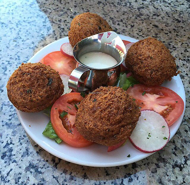 "Photo of Amardeen Cafe  by <a href=""/members/profile/veganinsandiego"">veganinsandiego</a> <br/>Falafel <br/> August 28, 2017  - <a href='/contact/abuse/image/96187/298367'>Report</a>"