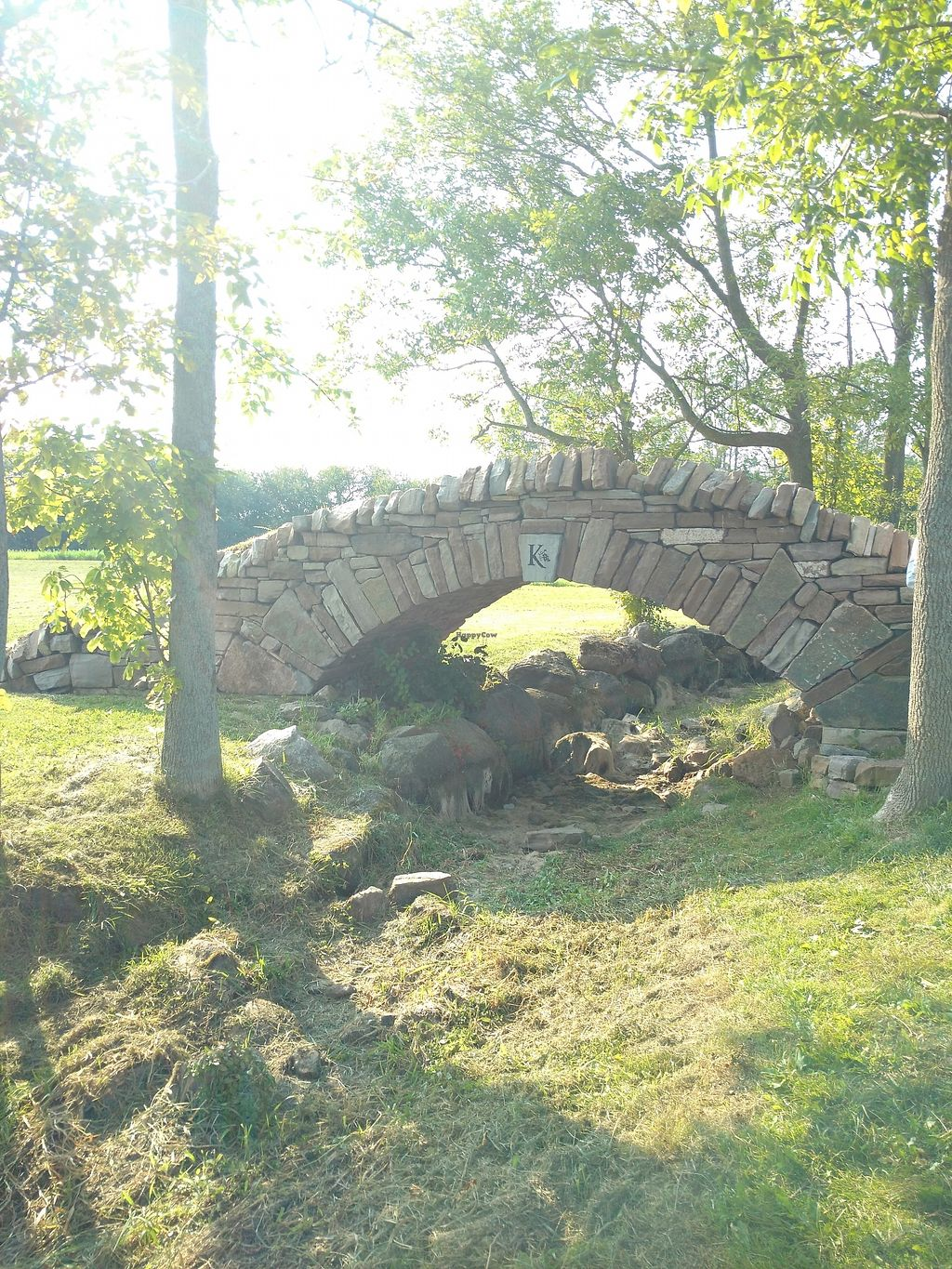 """Photo of Karlo Estates  by <a href=""""/members/profile/ThriftshopQueenie"""">ThriftshopQueenie</a> <br/>Nothing holding this together except vegan magic and physics. That bridge though, perfect place for a proposal. A must for any Canadian vegan couple for a little romance and wine.  <br/> January 2, 2018  - <a href='/contact/abuse/image/96193/342024'>Report</a>"""