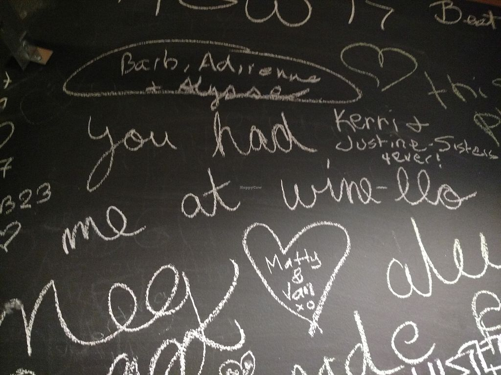 """Photo of Karlo Estates  by <a href=""""/members/profile/ThriftshopQueenie"""">ThriftshopQueenie</a> <br/>The bathroom walls are covered in love and good times. Messages of congratulations for newly engaged folks and those on the last ride before marching down the aisle <br/> January 2, 2018  - <a href='/contact/abuse/image/96193/342028'>Report</a>"""