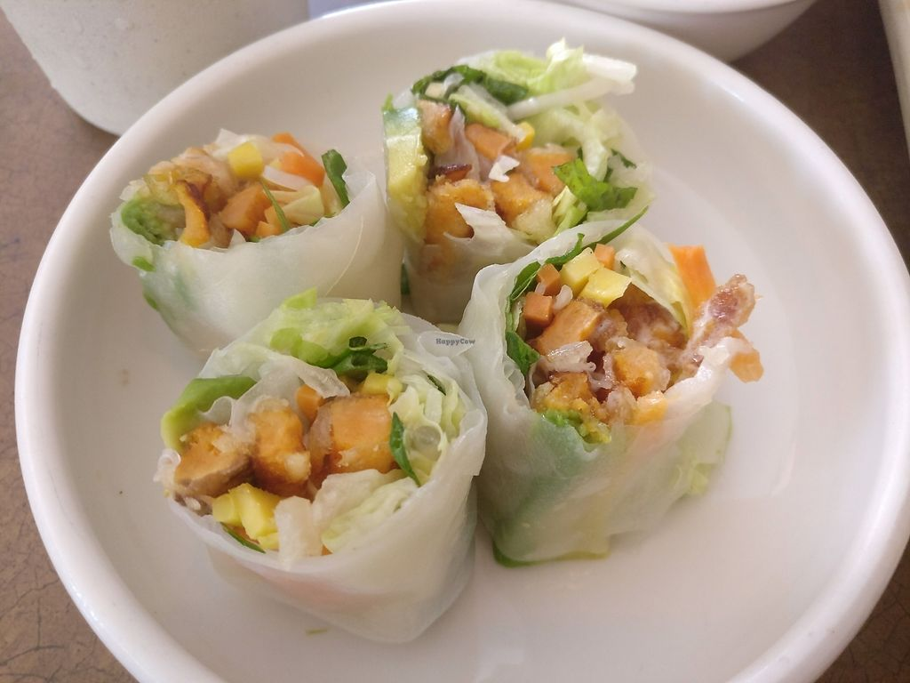 """Photo of Saigon Lotus  by <a href=""""/members/profile/cdnvegan"""">cdnvegan</a> <br/>Spring rolls <br/> July 17, 2017  - <a href='/contact/abuse/image/96198/281526'>Report</a>"""