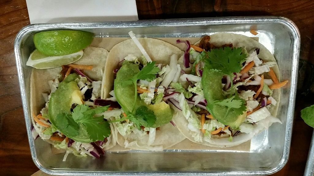 """Photo of Pour Taproom  by <a href=""""/members/profile/Conniemm"""">Conniemm</a> <br/>Tofu tacos <br/> July 14, 2017  - <a href='/contact/abuse/image/96200/280344'>Report</a>"""