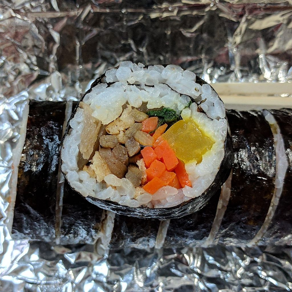 "Photo of Kimbab Sarang - 김밥사랑  by <a href=""/members/profile/PhillipPark"">PhillipPark</a> <br/>sarang kimbab without eggs (vegan!) <br/> July 15, 2017  - <a href='/contact/abuse/image/96239/280634'>Report</a>"