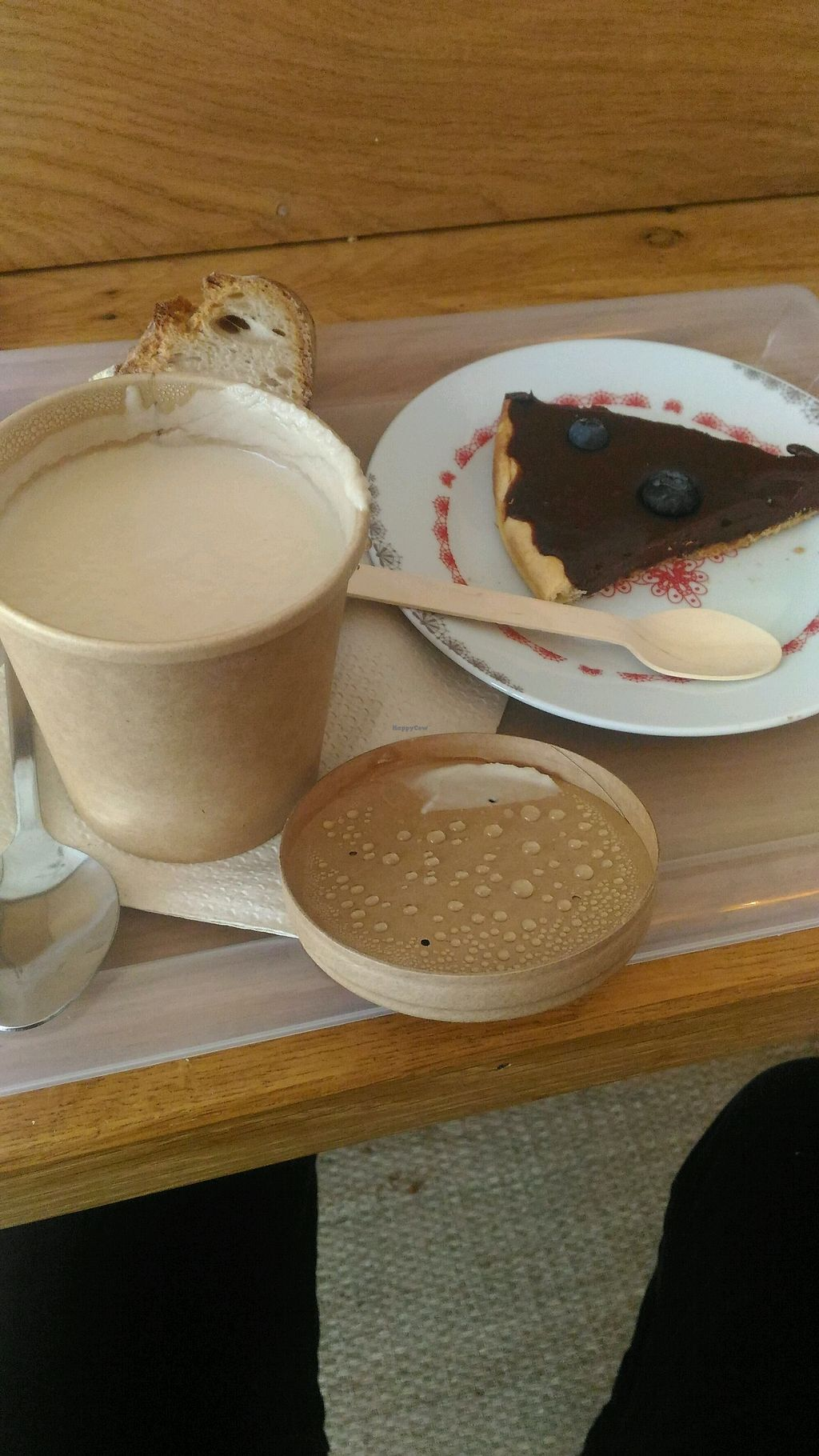 """Photo of Pause  by <a href=""""/members/profile/Paul%C3%ADna%C5%BD%C3%A1kovsk%C3%A1"""">PaulínaŽákovská</a> <br/>chocolate blueberry pie and the soup of the day which is always vegan:) <br/> March 24, 2018  - <a href='/contact/abuse/image/96265/375076'>Report</a>"""