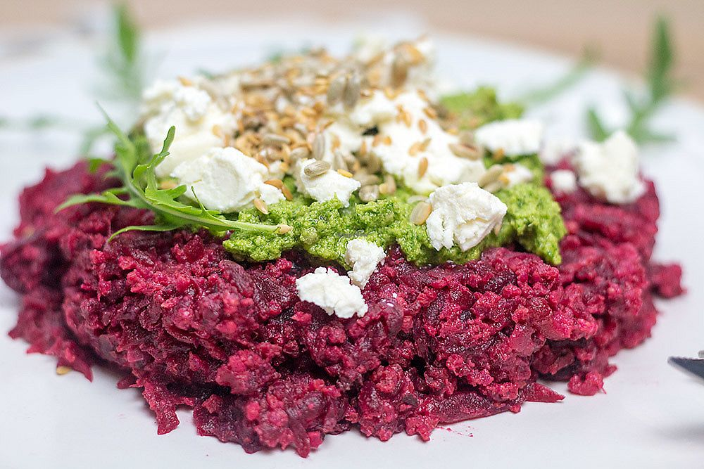 """Photo of Na Widelcu  by <a href=""""/members/profile/rafathk"""">rafathk</a> <br/>betroots and pesto with feta cheese <br/> August 1, 2017  - <a href='/contact/abuse/image/96281/287465'>Report</a>"""