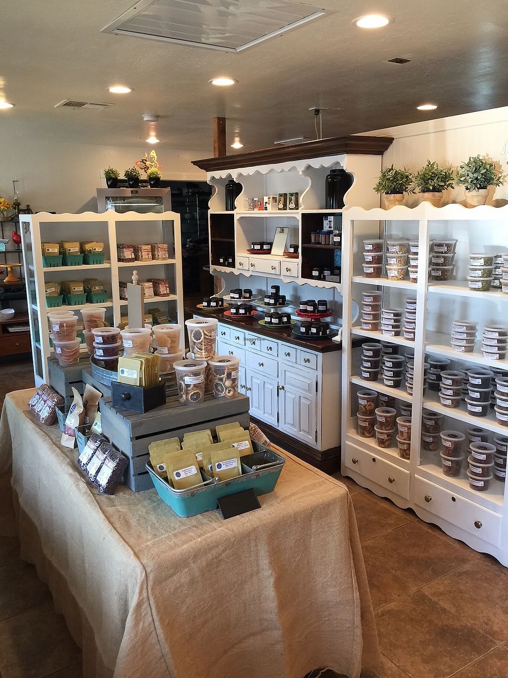 """Photo of Taylor's Provisions  by <a href=""""/members/profile/deltashark"""">deltashark</a> <br/>Pre-packaged items: nuts, seeds, fruits, baking items, teas, and spices <br/> July 15, 2017  - <a href='/contact/abuse/image/96286/280792'>Report</a>"""