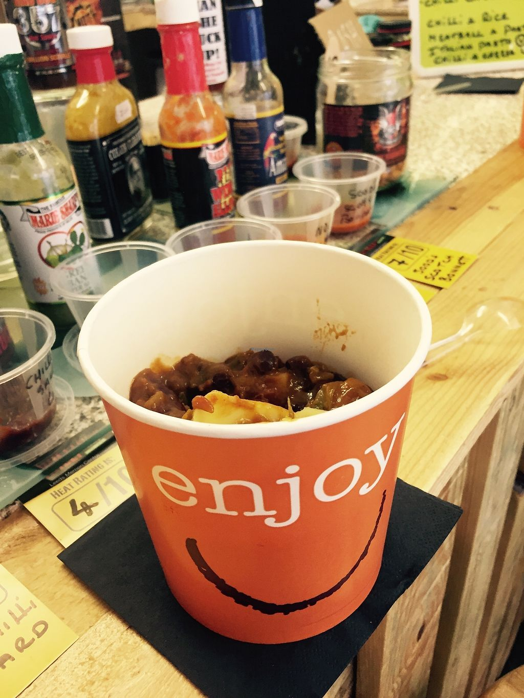 """Photo of Chelle's Pantry  by <a href=""""/members/profile/TARAMCDONALD"""">TARAMCDONALD</a> <br/>vegan chili and rice pot, or enjoy as a wrap <br/> August 19, 2017  - <a href='/contact/abuse/image/96288/294361'>Report</a>"""