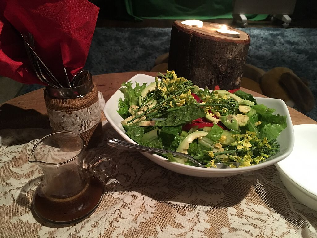 """Photo of Back 2 Earth B&B  by <a href=""""/members/profile/Mslanei"""">Mslanei</a> <br/>raw entree salad <br/> July 16, 2017  - <a href='/contact/abuse/image/96289/280950'>Report</a>"""