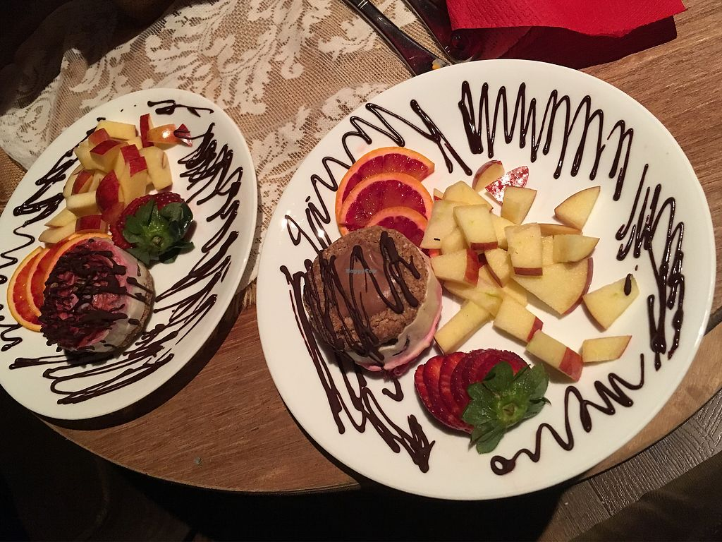 """Photo of Back 2 Earth B&B  by <a href=""""/members/profile/Mslanei"""">Mslanei</a> <br/>raw dessert plates <br/> July 16, 2017  - <a href='/contact/abuse/image/96289/280952'>Report</a>"""