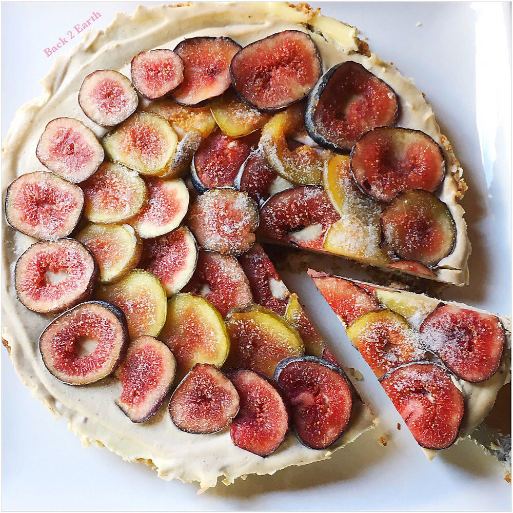 """Photo of Back 2 Earth B&B  by <a href=""""/members/profile/JennyHammond"""">JennyHammond</a> <br/>Raw vegan fig cheezecake with homegrown figs  <br/> March 4, 2018  - <a href='/contact/abuse/image/96289/366424'>Report</a>"""