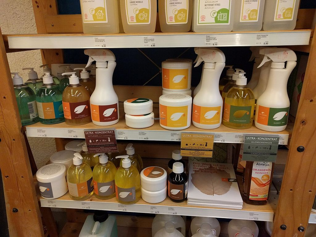 """Photo of Muller Reformhaus  by <a href=""""/members/profile/leanni"""">leanni</a> <br/>Vegan cleaning products <br/> July 18, 2017  - <a href='/contact/abuse/image/96298/281703'>Report</a>"""