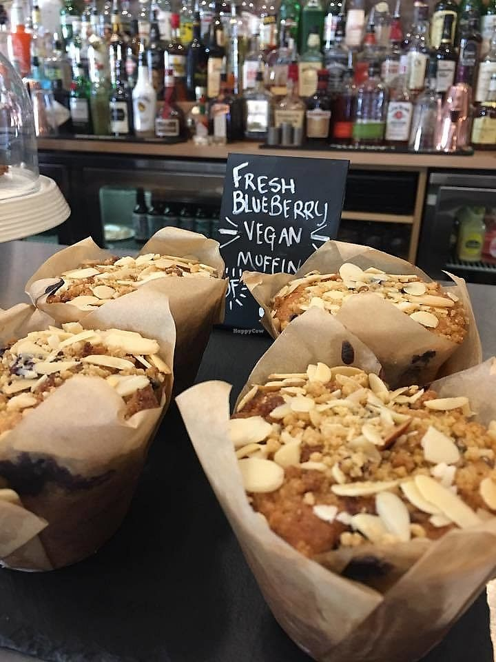 """Photo of Wags N Tales Coffee Bar  by <a href=""""/members/profile/community5"""">community5</a> <br/>Vegan blueberry muffins <br/> July 18, 2017  - <a href='/contact/abuse/image/96330/281862'>Report</a>"""