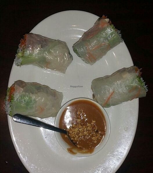 """Photo of Thai Cottage  by <a href=""""/members/profile/wennysan"""">wennysan</a> <br/>Vegetable Spring Rolls with Tofu and Peanut Sauce <br/> July 16, 2017  - <a href='/contact/abuse/image/96336/280843'>Report</a>"""