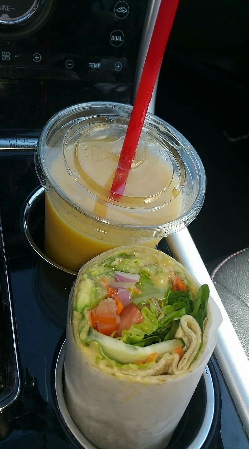 """Photo of Lolo Kai Smoothies & Wraps  by <a href=""""/members/profile/wennysan"""">wennysan</a> <br/>Veggie Hummus wrap & smoothie on the go! <br/> July 16, 2017  - <a href='/contact/abuse/image/96338/280850'>Report</a>"""