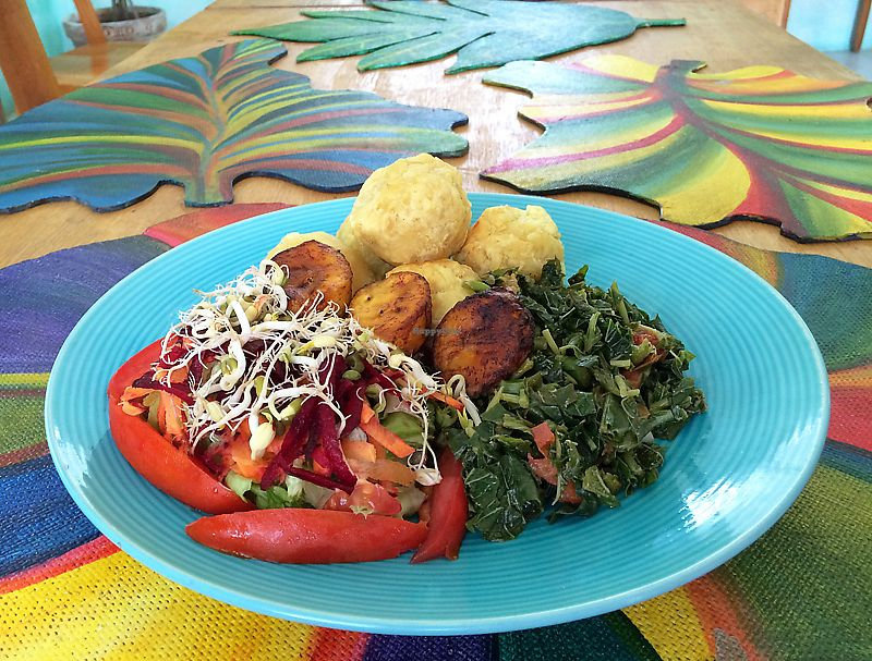 """Photo of  Soo Soom Ba Vegetarian   by <a href=""""/members/profile/westboston"""">westboston</a> <br/>Fresh and delicious combination plate <br/> November 30, 2017  - <a href='/contact/abuse/image/96343/330884'>Report</a>"""