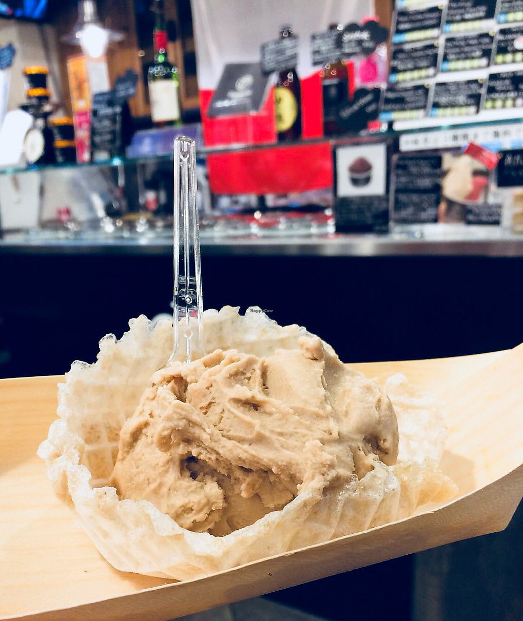 """Photo of Premarche Gelateria  by <a href=""""/members/profile/V87"""">V87</a> <br/>Delicious Brown Gelato in a Ricewaffle cone (gluten, dairy, soy free) ! <br/> April 12, 2018  - <a href='/contact/abuse/image/96348/384593'>Report</a>"""
