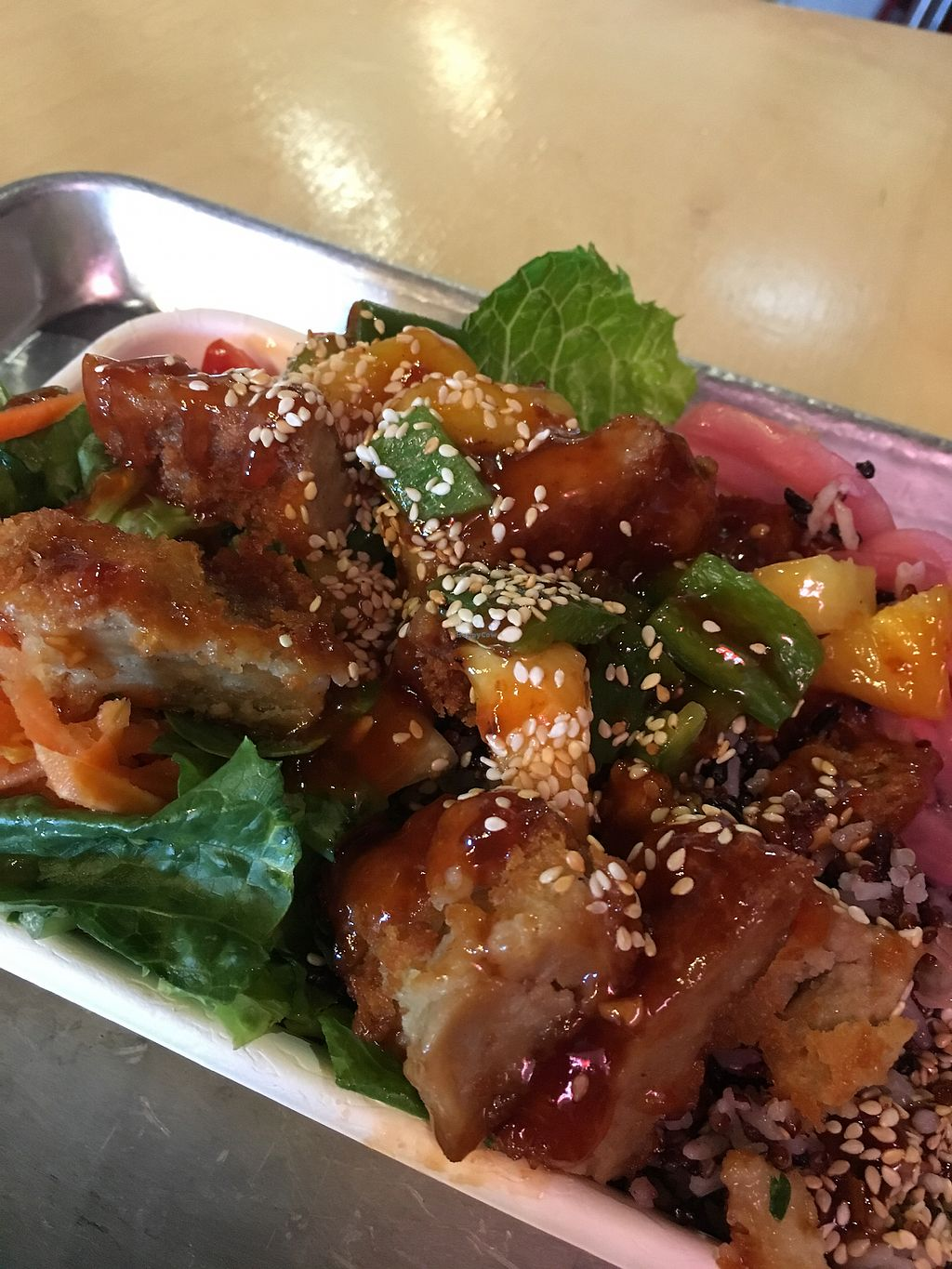 """Photo of Pow Pow  by <a href=""""/members/profile/laurastill"""">laurastill</a> <br/>Natalie Porkman - flavorful, filling, delicious, vegan <br/> September 28, 2017  - <a href='/contact/abuse/image/96349/309491'>Report</a>"""