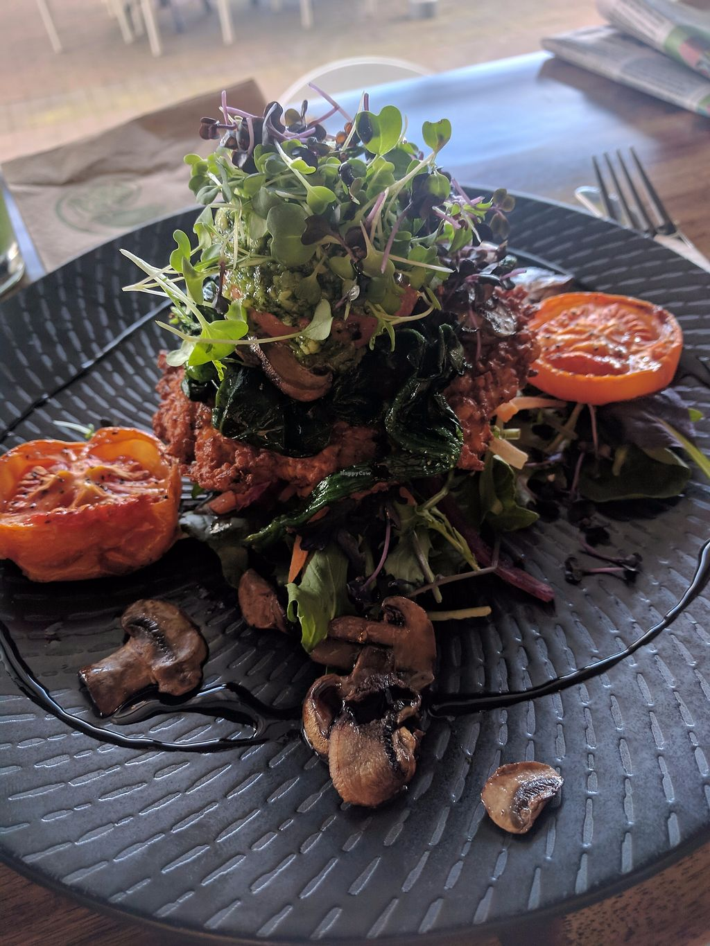 "Photo of Cafe Baku  by <a href=""/members/profile/DaisyGould"">DaisyGould</a> <br/>Vegan vege stack (vege stack with eggs removed) at Cafe Baku, Taupo <br/> September 13, 2017  - <a href='/contact/abuse/image/96352/303943'>Report</a>"