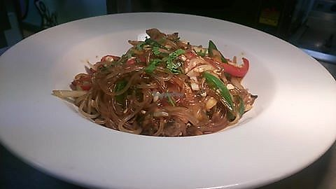 """Photo of Food Anarchy  by <a href=""""/members/profile/community5"""">community5</a> <br/>Japchae - Korean sweet potato glass noodles with tamarind, tofu & chilli, vegan & gluten free <br/> July 19, 2017  - <a href='/contact/abuse/image/96367/282299'>Report</a>"""
