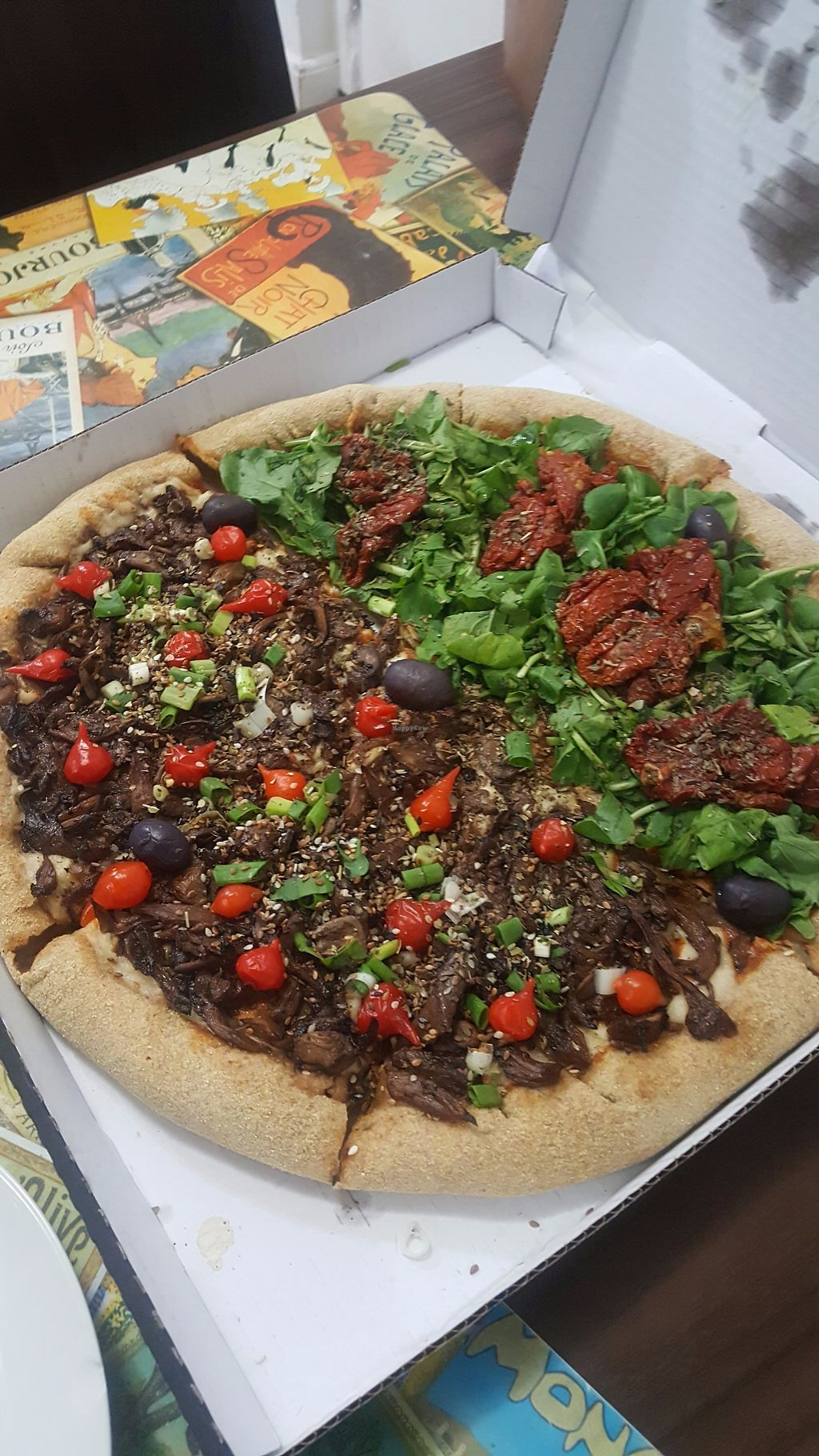 "Photo of Pop Vegan Food  by <a href=""/members/profile/sarahssoares"">sarahssoares</a> <br/>Vegan pizza <br/> September 19, 2017  - <a href='/contact/abuse/image/96385/306046'>Report</a>"