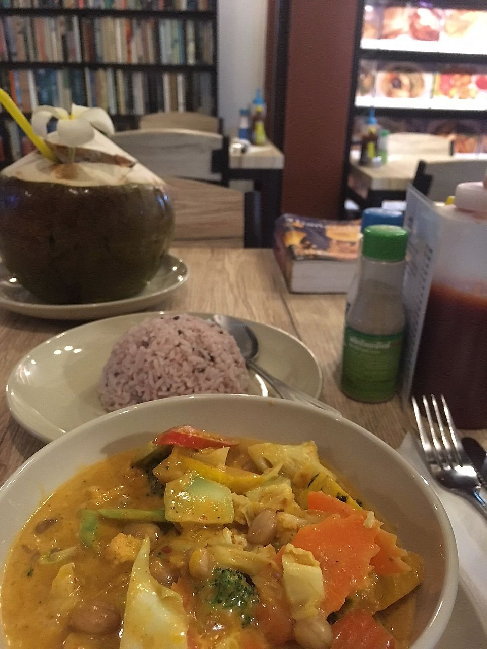 """Photo of Dow Vegetarian Restaurant  by <a href=""""/members/profile/evaPhiPhi"""">evaPhiPhi</a> <br/>Vegetarian Masamam Curry with Pumpkin <br/> August 2, 2017  - <a href='/contact/abuse/image/96395/287890'>Report</a>"""