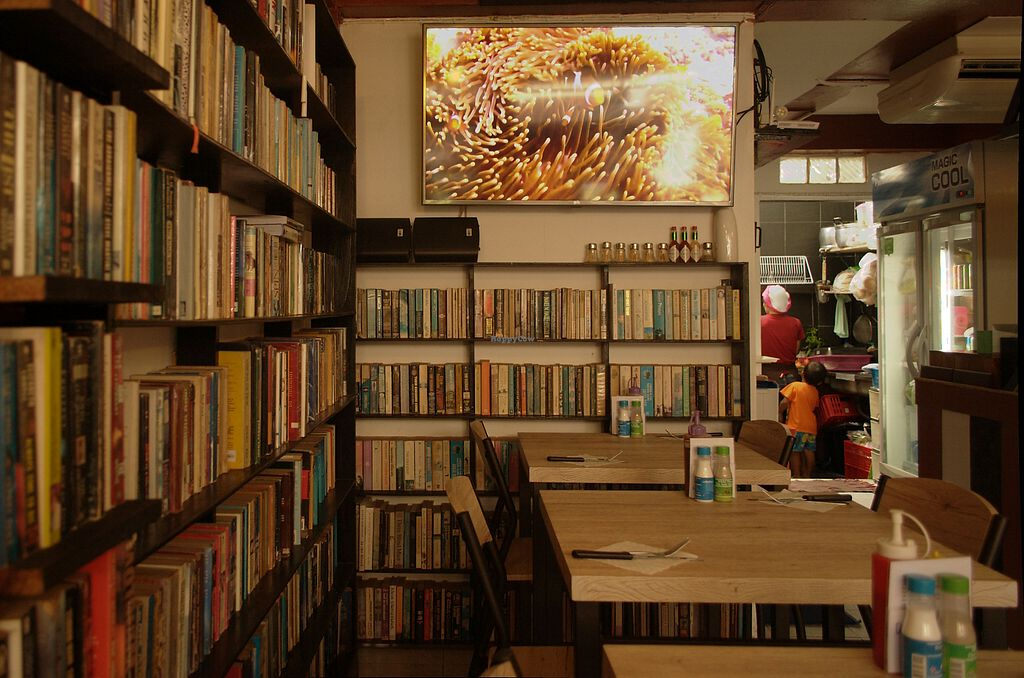 """Photo of Dow Vegetarian Restaurant  by <a href=""""/members/profile/evaPhiPhi"""">evaPhiPhi</a> <br/>Dow offers a great book collection to browse through. It's a nice and chilled place to hang out, run by a lovely family <br/> August 2, 2017  - <a href='/contact/abuse/image/96395/287891'>Report</a>"""