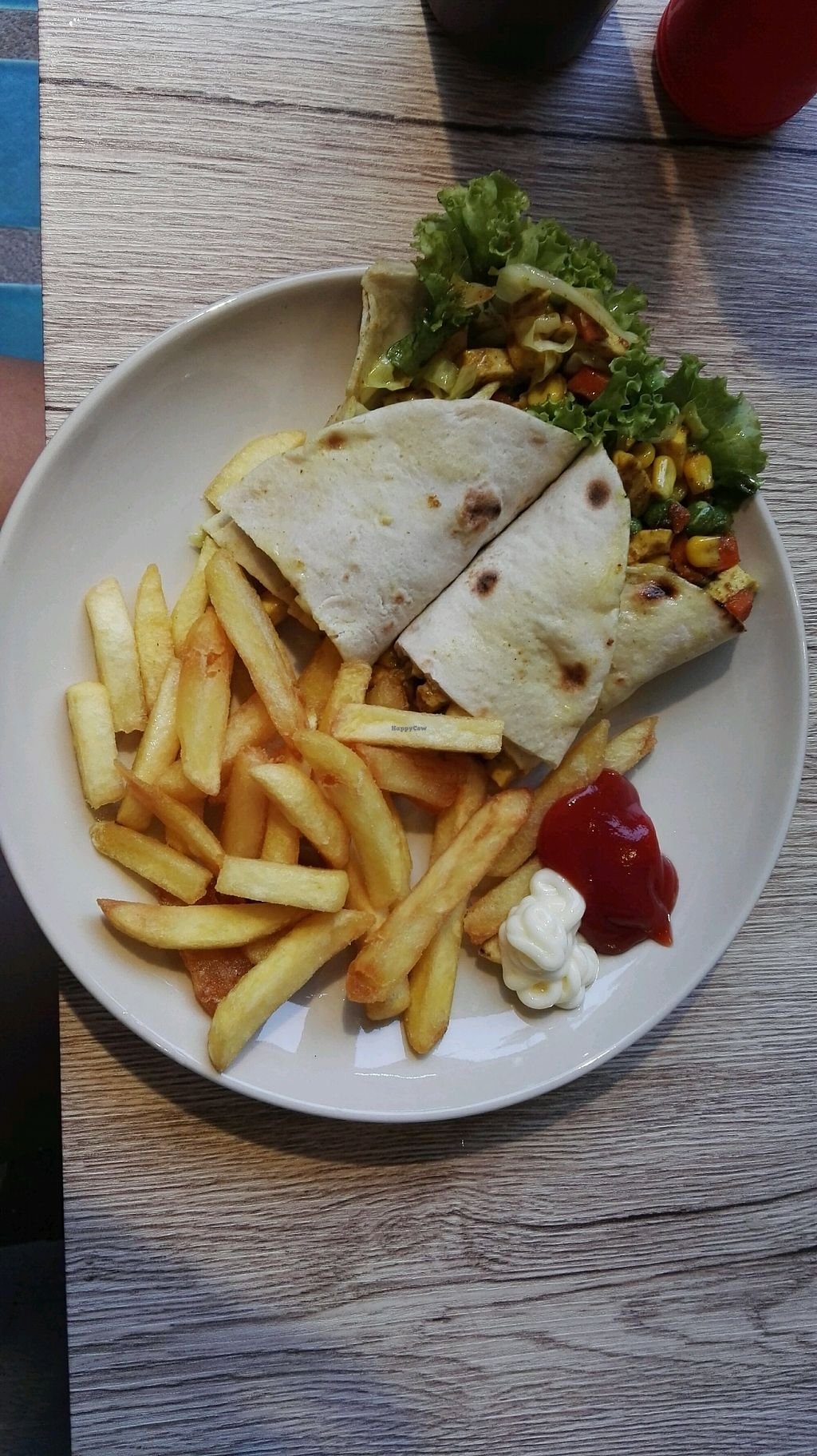 """Photo of Dow Vegetarian Restaurant  by <a href=""""/members/profile/AnnaSofie"""">AnnaSofie</a> <br/>Tofu Wrap <br/> August 25, 2017  - <a href='/contact/abuse/image/96395/296902'>Report</a>"""