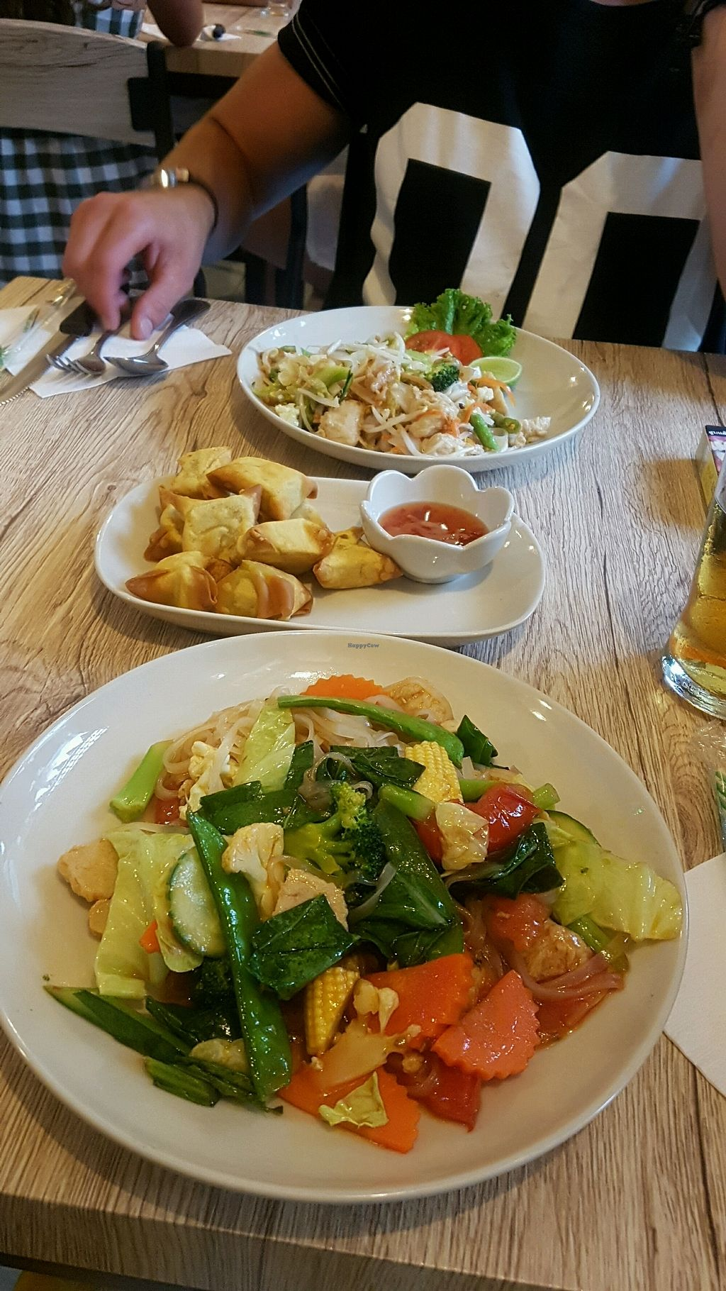 """Photo of Dow Vegetarian Restaurant  by <a href=""""/members/profile/Lizzylodge"""">Lizzylodge</a> <br/>Sweet and sour and pad thai with chicken  <br/> December 17, 2017  - <a href='/contact/abuse/image/96395/336348'>Report</a>"""