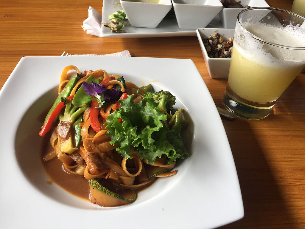 """Photo of Chia Vegan Kitchen  by <a href=""""/members/profile/Dianebg"""">Dianebg</a> <br/>Fettuccine curry  <br/> October 17, 2017  - <a href='/contact/abuse/image/96436/316130'>Report</a>"""