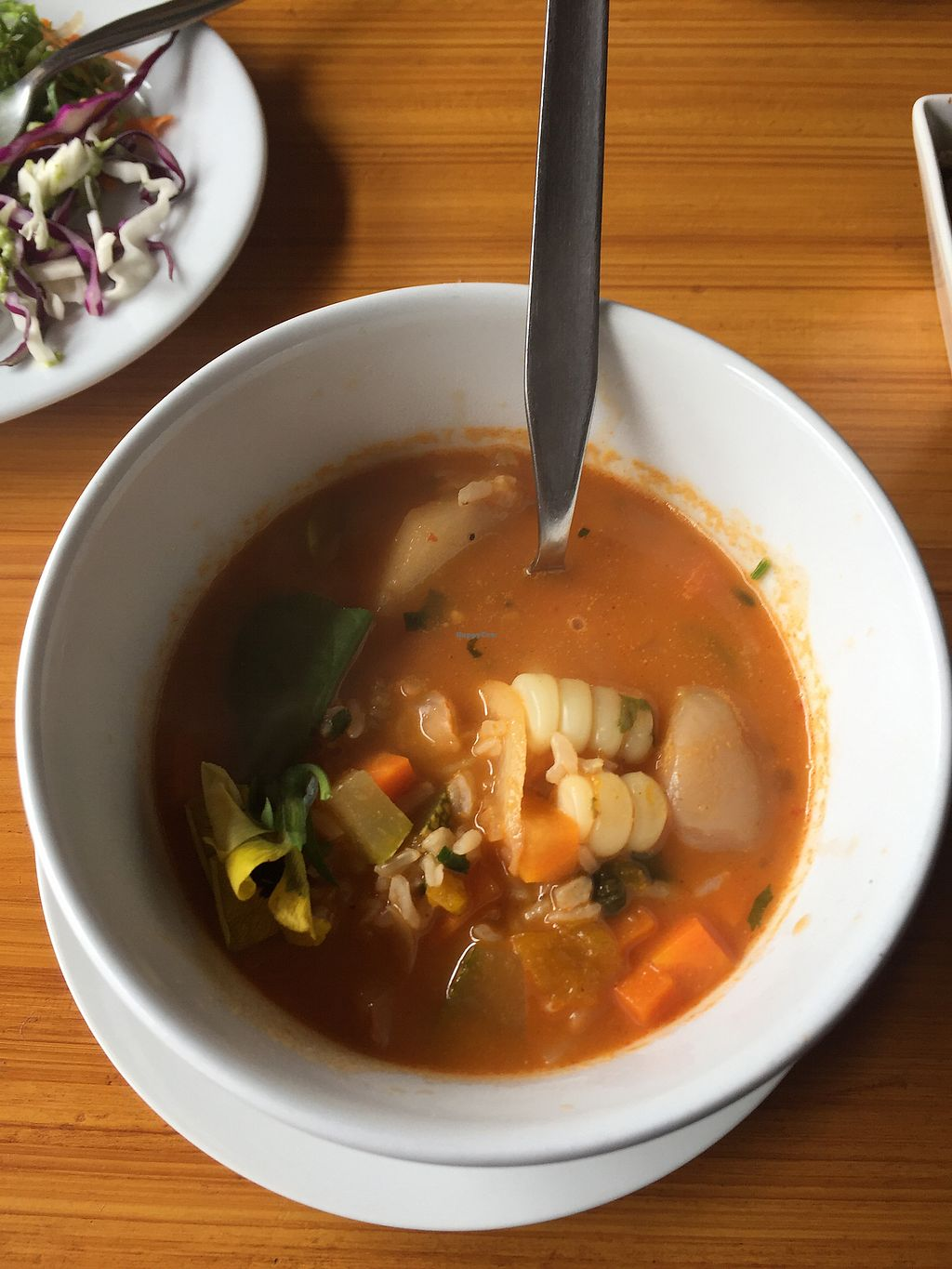 """Photo of Chia Vegan Kitchen  by <a href=""""/members/profile/Dianebg"""">Dianebg</a> <br/>Veggie soup  <br/> October 17, 2017  - <a href='/contact/abuse/image/96436/316131'>Report</a>"""