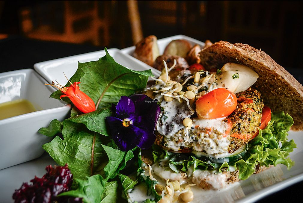"""Photo of Chia Vegan Kitchen  by <a href=""""/members/profile/JorgeYabar"""">JorgeYabar</a> <br/>quinua burger <br/> March 8, 2018  - <a href='/contact/abuse/image/96436/367966'>Report</a>"""