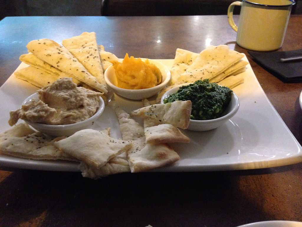 "Photo of The Duke  by <a href=""/members/profile/CatDouglas"">CatDouglas</a> <br/>vegan dip platter. hummus, pumpkin and pesto <br/> July 21, 2017  - <a href='/contact/abuse/image/96441/282842'>Report</a>"