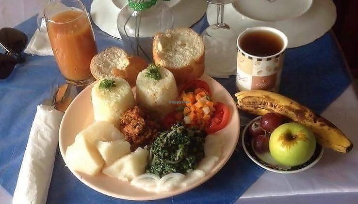 """Photo of Vegan Grill  by <a href=""""/members/profile/JohnnySensible"""">JohnnySensible</a> <br/>Un repas complet au Vegan Grill Ndokoti : 2700 fcfa (4€).  57/5000 A full meal at the Vegan Grill Ndokoti: 2700 fcfa (4 €).   <br/> July 17, 2017  - <a href='/contact/abuse/image/96443/281289'>Report</a>"""