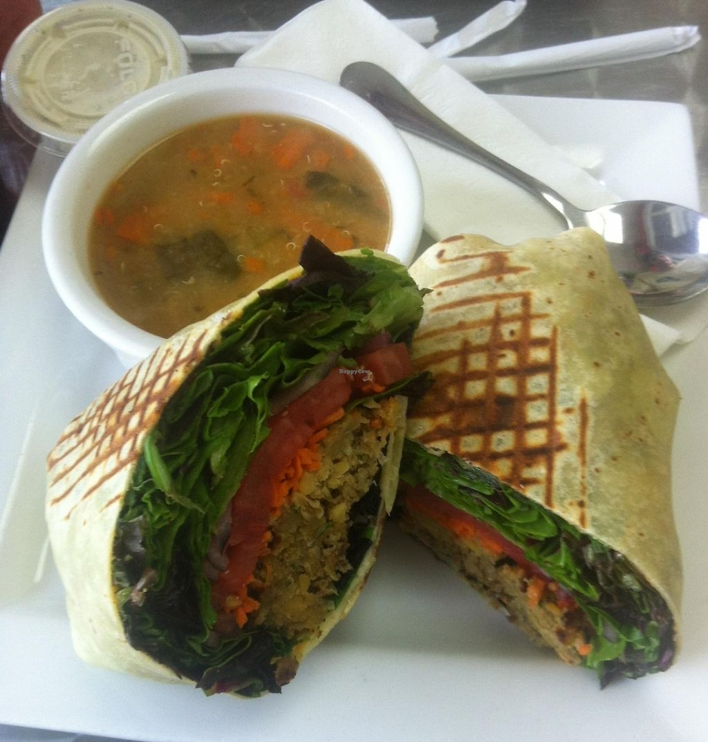 """Photo of Apple a Day Store & Cafe  by <a href=""""/members/profile/Emzilla"""">Emzilla</a> <br/>Gluten free falafel wrap <br/> October 1, 2015  - <a href='/contact/abuse/image/9647/196684'>Report</a>"""