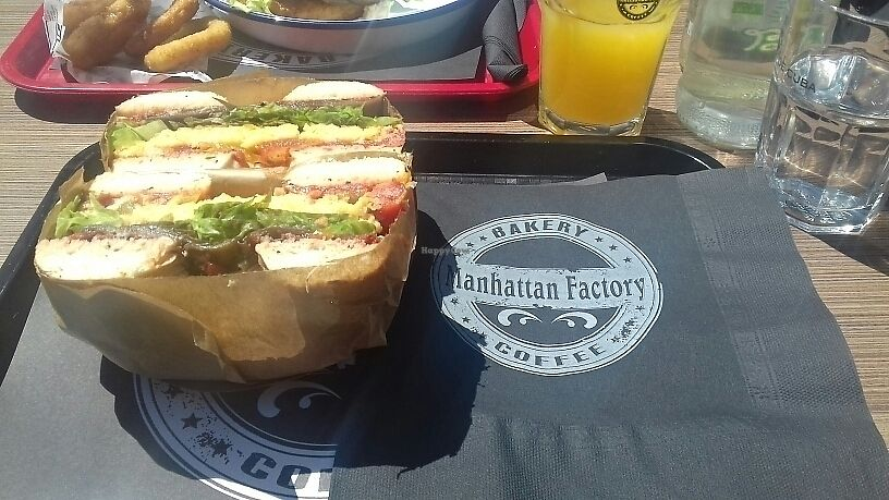 "Photo of Manhattan Cafe  by <a href=""/members/profile/Vegancat72"">Vegancat72</a> <br/>vegan bagel <br/> July 18, 2017  - <a href='/contact/abuse/image/96482/281652'>Report</a>"