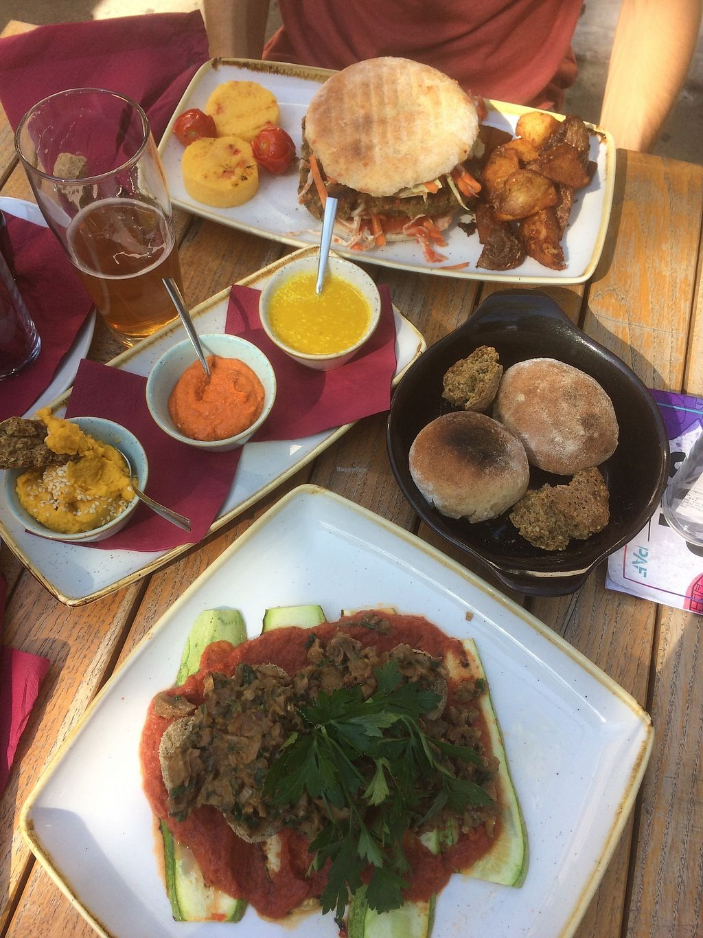 "Photo of Culture Club Strudla  by <a href=""/members/profile/Seagullonbicycle"">Seagullonbicycle</a> <br/>vegan burger and falafel with 3 hummuses <br/> September 18, 2017  - <a href='/contact/abuse/image/96490/305746'>Report</a>"