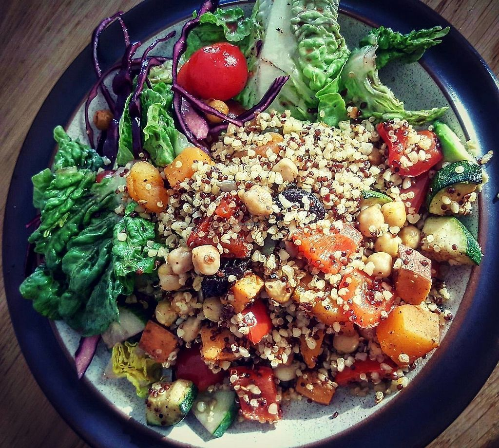 """Photo of Arts Cafe  by <a href=""""/members/profile/VictorHugoLimachi"""">VictorHugoLimachi</a> <br/>Chickpea and butternut squash salad <br/> July 18, 2017  - <a href='/contact/abuse/image/96495/325960'>Report</a>"""