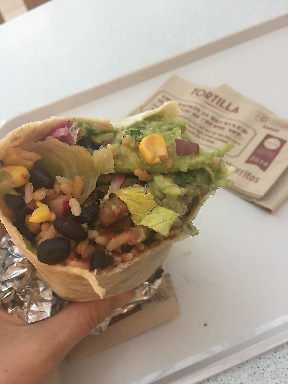 "Photo of Tortilla  by <a href=""/members/profile/TARAMCDONALD"">TARAMCDONALD</a> <br/>vegan burritos <br/> July 17, 2017  - <a href='/contact/abuse/image/96499/325972'>Report</a>"